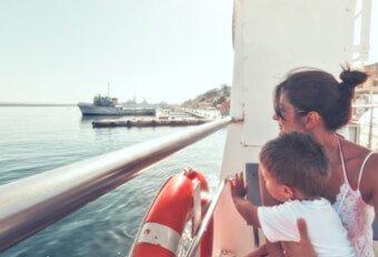 An Bord der Fähren