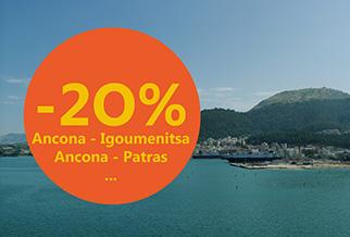 Italien-Griechenland: Buchen Sie zeitig und erhalten Sie 20% Rabatt auf Ihre Überfahrt